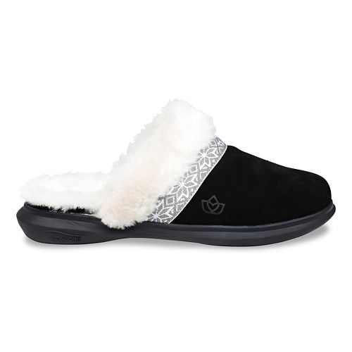 Womens Spenco Nordic Slide Slipper Casual Shoe - Black 10