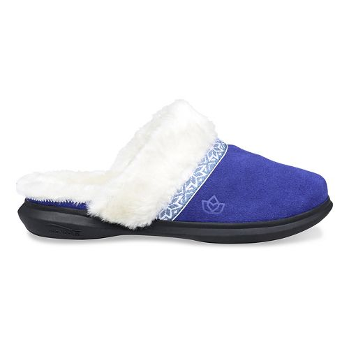 Womens Spenco Nordic Slide Slipper Casual Shoe - Navy 8