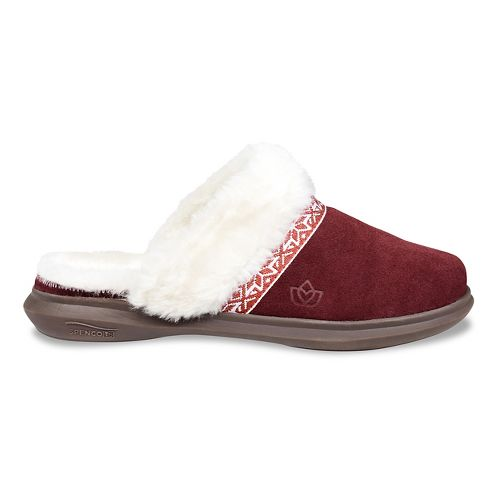 Womens Spenco Nordic Slide Slipper Casual Shoe - Burgundy 8