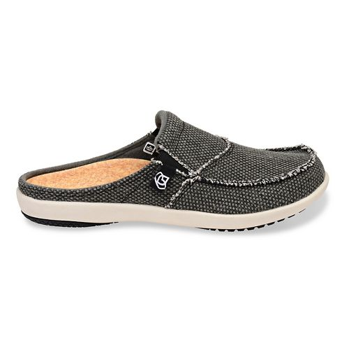 Womens Spenco Siesta Canvas Slide Casual Shoe - Charcoal 6