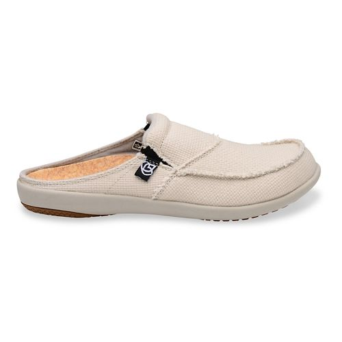 Womens Spenco Siesta Canvas Slide Casual Shoe - Off White 10
