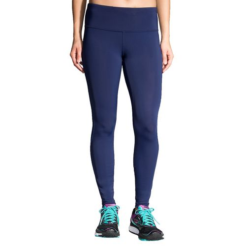 Womens Brooks Go-To Tights & Leggings Pants - Navy/Wave L