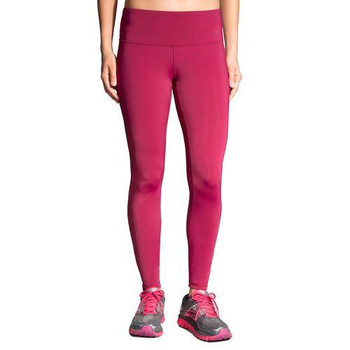 Womens Brooks Go-To Tights & Leggings Pants - Sangria/Poppy S