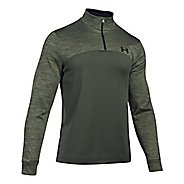 Mens Under Armour Fleece 1/4 Zip Long Sleeve Technical Tops