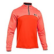 Mens Under Armour Fleece Icon 1/4 Zip Long Sleeve Technical Tops