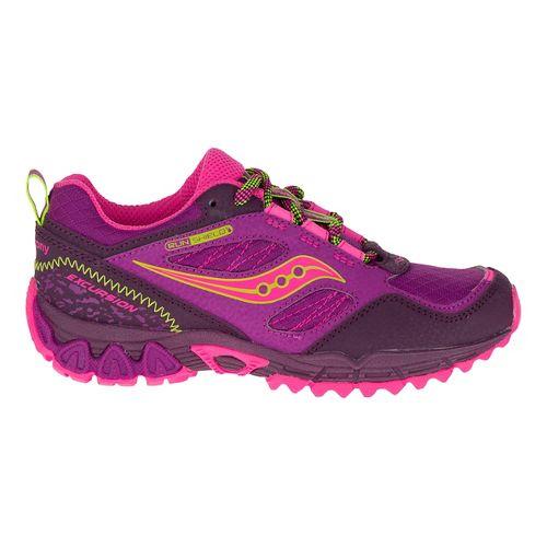 Kids Saucony Excursion Shield Hiking Shoe - Berry/Citron 7Y