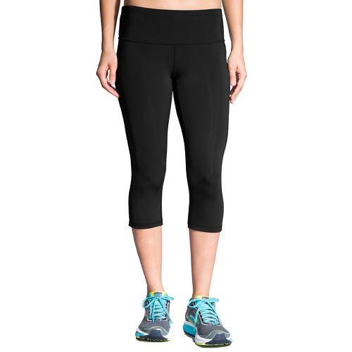 Womens Brooks Go-To Capris Pants - Black XL
