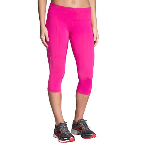 Womens Brooks Go-To Capris Pants - Petal XL