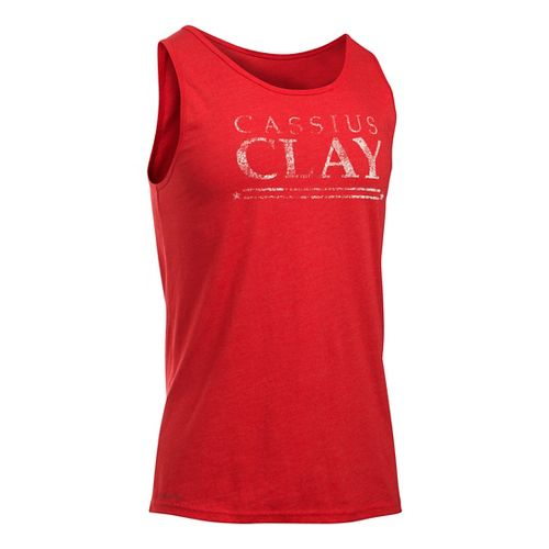 Mens Under Armour Cassius Clay Americana Sleeveless & Tank Technical Tops - Red XXL