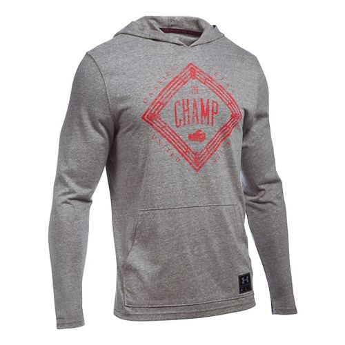 Mens Under Armour Cassius Clay Triblend Hoodie & Sweatshirts Technical Tops - Greyhound Heather ...