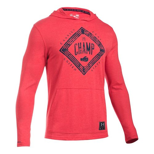 Mens Under Armour Cassius Clay Triblend Hoodie & Sweatshirts Technical Tops - Red XL