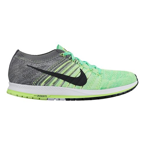 Nike Air Zoom Flyknit Streak Racing Shoe - Green/Grey 6.5