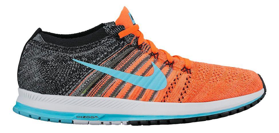 Nike Air Zoom Flyknit Streak Racing Shoe - Orange/Blue 9.5