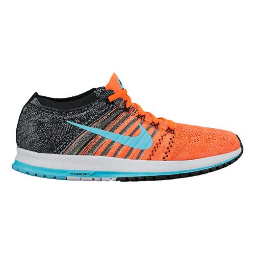 Nike Air Zoom Flyknit Streak Racing Shoe - Orange/Blue 9