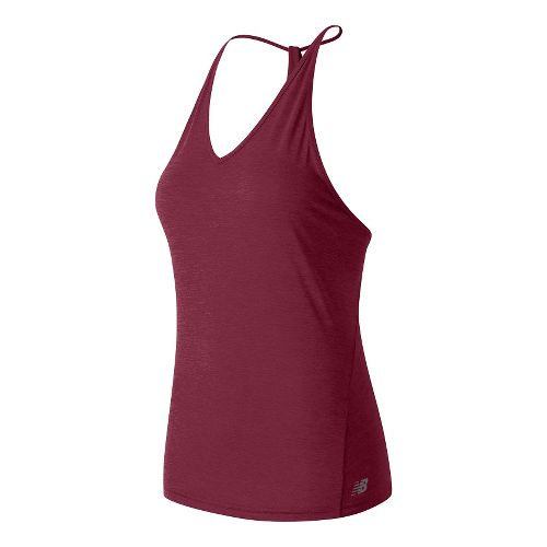 Womens New Balance Free Flow Tanks Technical Tops - Burgundy L