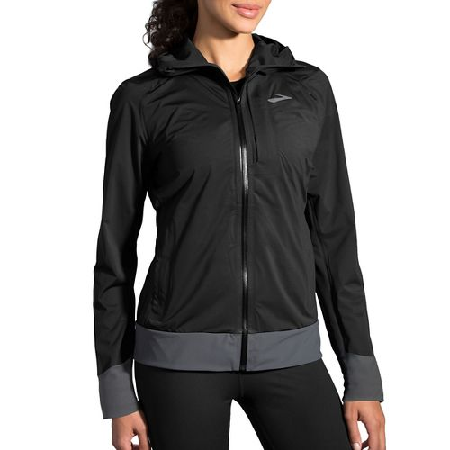 Womens Brooks Cascadia Rain Jackets - Black S