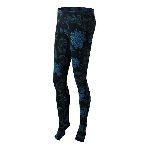 Womens New Balance Printed Studio Tights & Leggings Pants - Black/Purple S