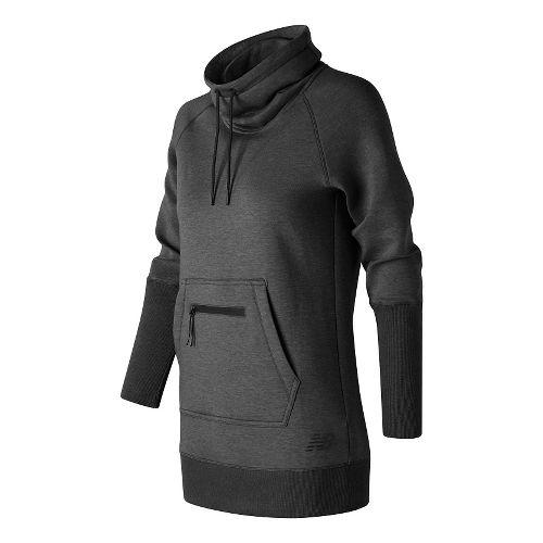 Womens New Balance Sport Style Tunic Long Sleeve Sweater Technical Tops - Black Heather XL ...