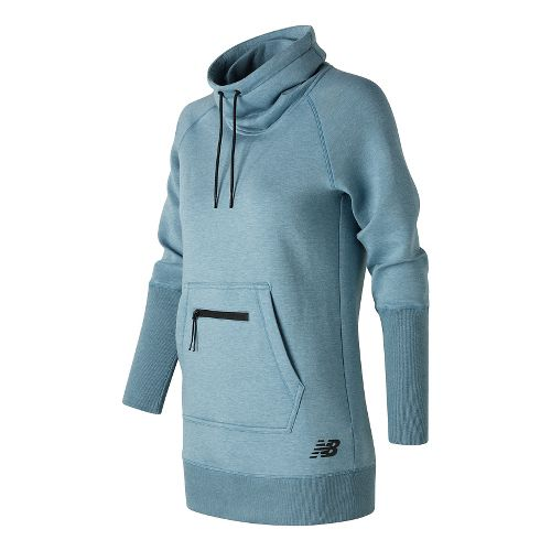 Womens New Balance Sport Style Tunic Long Sleeve Sweater Technical Tops - Riptide Heather S ...