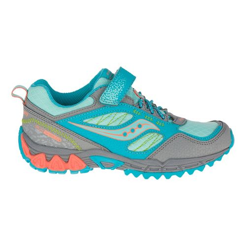 Kids Saucony Excursion Shield A/C Hiking Shoe - Grey/Coral 11.5C