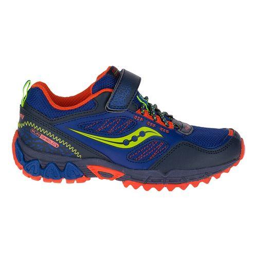 Kids Saucony Excursion Shield A/C Hiking Shoe - Blue/Orange 1Y