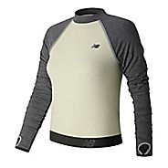 Womens New Balance Sport Style Cropped Long Sleeve Technical Tops