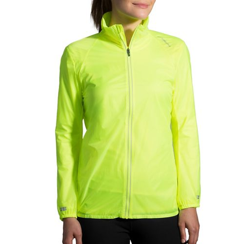 Womens Brooks LSD Printed Running Jackets - Nightlife/Ultra Blue XXL