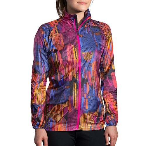 Womens Brooks LSD Printed Running Jackets - Sunset Kasbah M