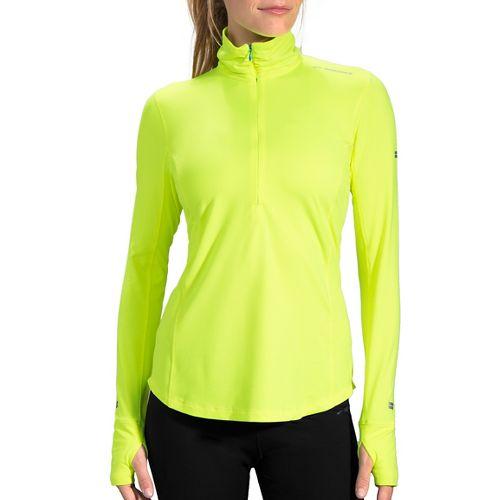 Womens Brooks Dash 1/2 Zip Long Sleeve Technical Tops - Nightlife S