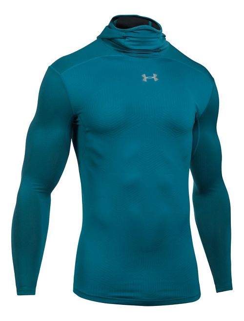Mens Under Armour ColdGear Elements Half-Zips & Hoodies Technical Tops - Bayou Blue L