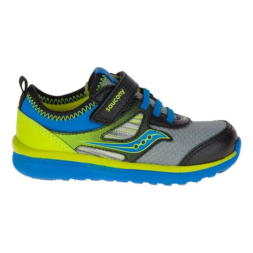 Kids Saucony Volt A/C Walking Shoe - Black/Citron 6.5C
