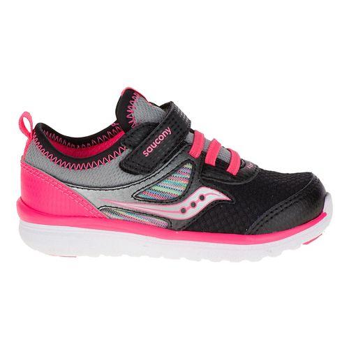Kids Saucony Volt A/C Walking Shoe - Black/Pink 6.5C