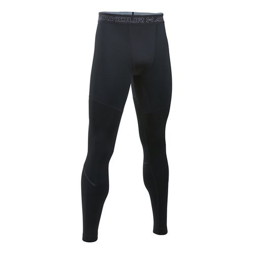 Mens Under Armour CGI Armour Elements Tights & Leggings Pants - Black/Steel XL