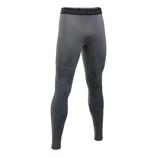 Mens Under Armour ColdGear Armour Elements Tights & Leggings Pants - Graphite/Black L