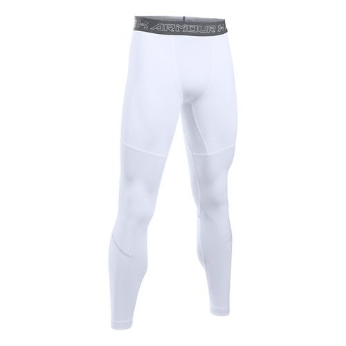 Mens Under Armour CGI Armour Elements Tights & Leggings Pants - White/Graphite L