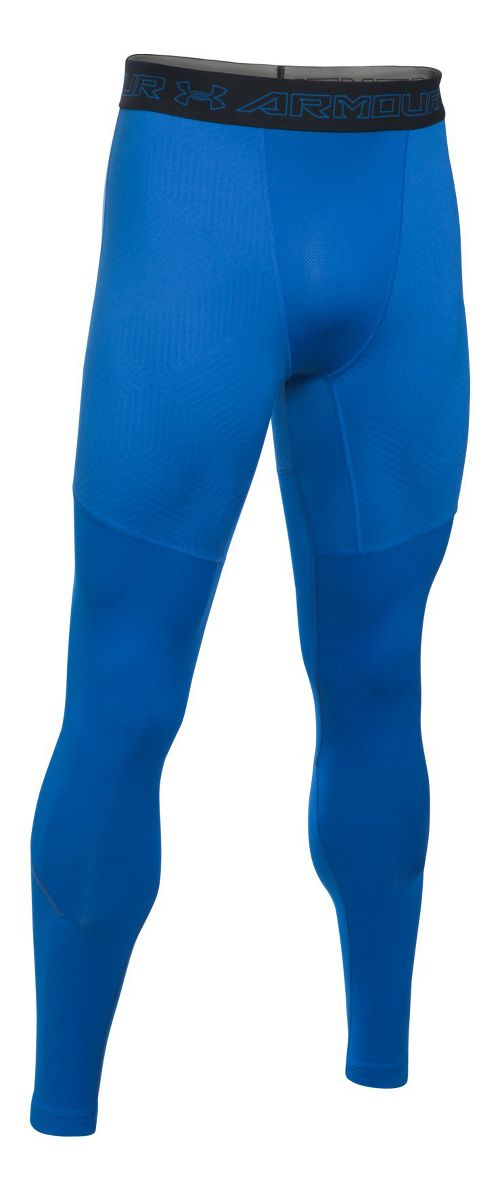Mens Under Armour CGI Armour Elements Tights & Leggings Pants - Blue Marker/Black M