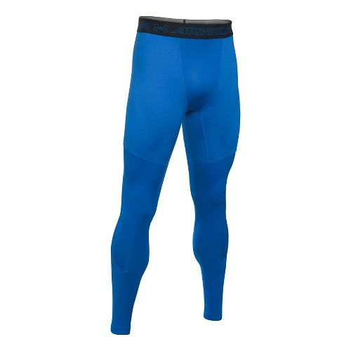Mens Under Armour CGI Armour Elements Tights & Leggings Pants - Blue Marker/Black M