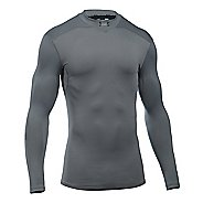 Mens Under Armour ColdGear Armour Elements Mock Long Sleeve Technical Tops