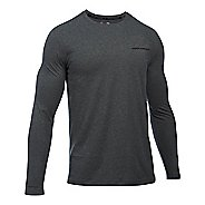 Mens Under Armour Charged Cotton Tee Long Sleeve Technical Tops