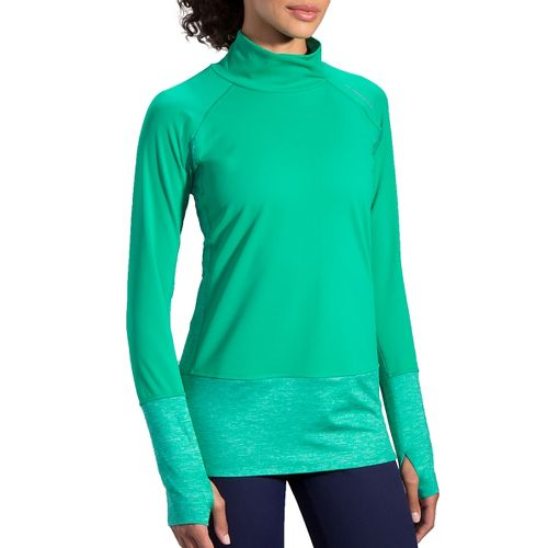 Womens Brooks Threshold Long Sleeve Technical Tops - Parquet S
