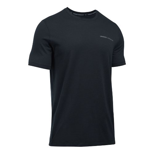 Mens Under Armour Charged Cotton Tee Short Sleeve Technical Tops - Black/Graphite L
