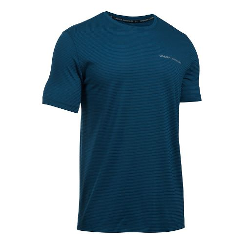Mens Under Armour Charged Cotton Tee Short Sleeve Technical Tops - Blackout Navy/Steel XXL