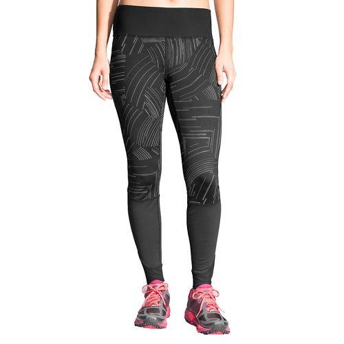 Womens Brooks Threshold Tights & Leggings Pants - Black Cosmo XXL