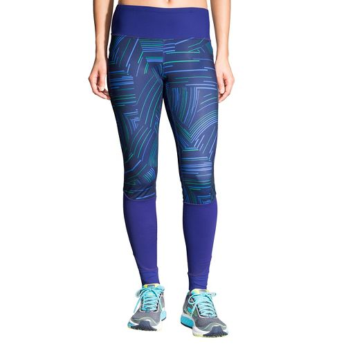 Womens Brooks Threshold Tights & Leggings Pants - Navy Cosmo XXL