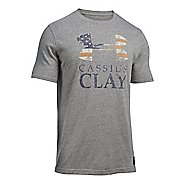 Mens Under Armour Clay SportStyle Triblend T Short Sleeve Technical Tops