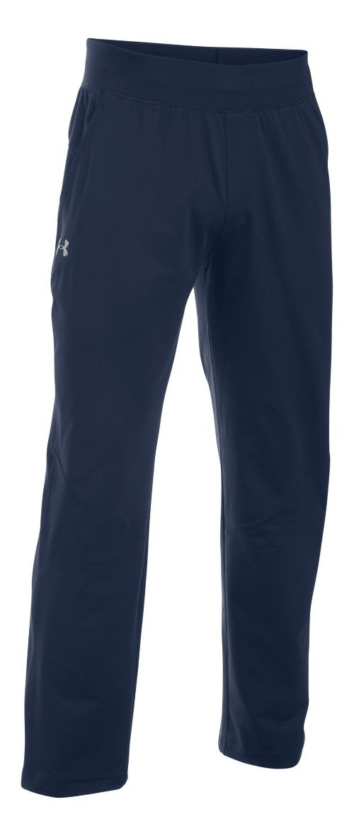 Mens Under Armour Elevated Knit Training Pants - Navy/Navy S