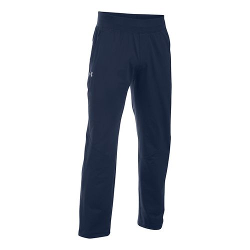 Mens Under Armour Elevated Knit Training Pants - Navy/Navy L