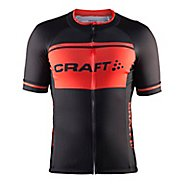 Mens Craft Classic Logo Jersey Short Sleeve Technical Tops