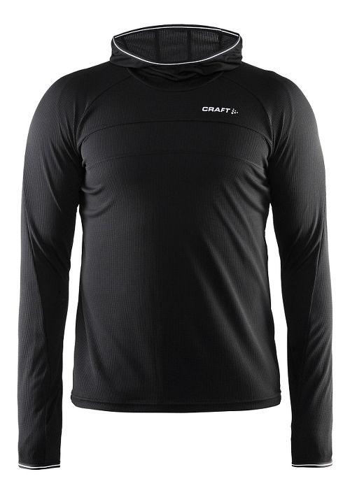 Mens Craft Escape Jersey Long Sleeve Technical Tops - Black L