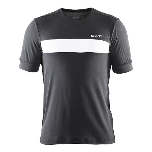 Mens Craft Escape Jersey Short Sleeve Technical Tops - Black/White XL